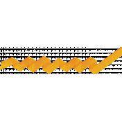 Speed Zone- Orange Zig Zag Ribbon