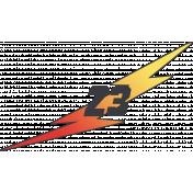"Speed Zone Elements Kit- ""23"" Lightning Bolt"