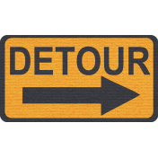 "Speed Zone Elements Kit- ""Detour"" Sign"