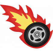 Speed Zone Elements Kit- Flaming Tyre