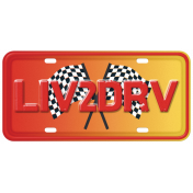 "Speed Zone Elements Kit- ""Liv2Drv"" Licence Plate"