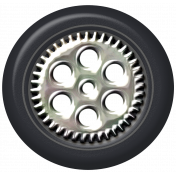 Speed Zone- Metal Rimmed Tire 02