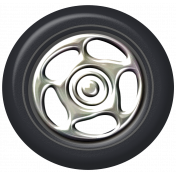 Speed Zone- Metal Rimmed Tire 03