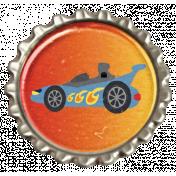 Speed Zone- Race Car Bottlecap