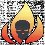 Speed Zone- Skull & Fire Sticker