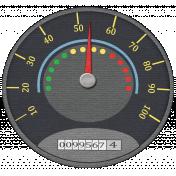 Speed Zone Elements Kit- Speedometer sticker