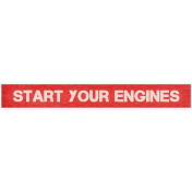 "Speed Zone Elements Kit- ""Start Your Engines"" Label"