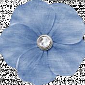 My Baptism- Dark Blue flower