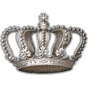 My Baptism- Silver Crown Sticker