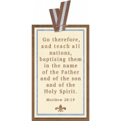 My Baptism- Striped Ribbon Tag