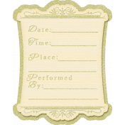 My Baptism- Date & Time Journal Card