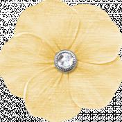 My Baptism- Cream Flower