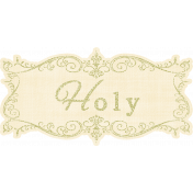 My Baptism- Holy Wordart Tag