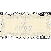 My Baptism- Joy Wordart Tag