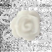 My Baptism- Metal Rose Flower