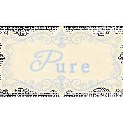 My Baptism- Pure Wordart Tag