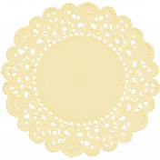 My Baptism- Yellow Doily