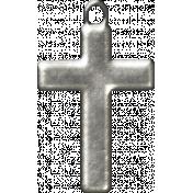 My Baptism- Silver Cross Charm