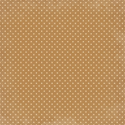 My Baptism- Brown & Cream Dot Paper