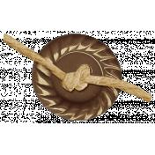 Turkey Time- Brown Button