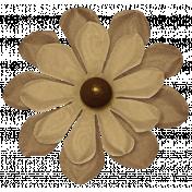 Turkey Time Elements Kit- Brown Paper Flower #02