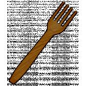 Turkey Time Elements Kit- Wooden fork