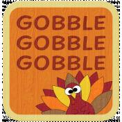 "Turkey Time Elements Kit- ""Gobble"" Tag"