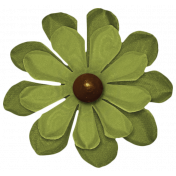 Turkey Time- Green Flower