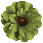 Turkey Time- Green Flower 02