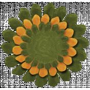 Turkey Time- Green & Gold Flower