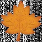 Turkey Time- Orange Paper Leaf