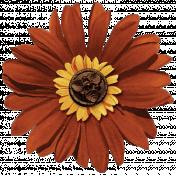 Turkey Time- Burnt Orange Flower