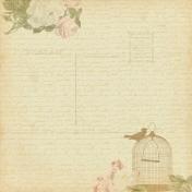 Vintage- November Blogtrain Floral Birdcage Paper