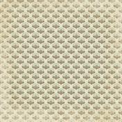 Vintage- November Blogtrain Floral Teal Paper