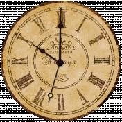 Vintage- November Blogtrain Clock Face