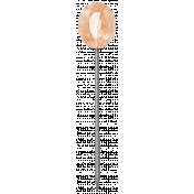Vintage- November Blogtrain Pink Gem Pin
