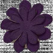 Thankful- Dark Purple Flower