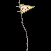 Thankful- Fun Stick Flag