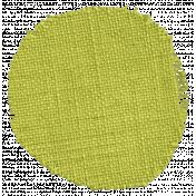 Thankful- Green Burlap Circle