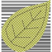 Thankful- Green Polka Dot Leaf