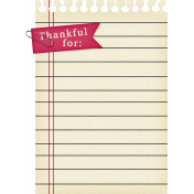 Thankful- Notebook Paper Tag
