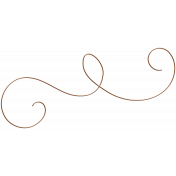 Vintage- November Blogtrain Wire Swirl
