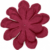 Thankful- Pinkish Red Flower