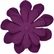 Thankful- Purple Burlap Flower