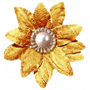 It's Christmas- Gold Flower