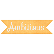 Simple Pleasures- Ambitious Tag