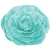 Simple Pleasures- Bluegreen Rose
