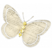 Simple Pleasures- Butterfly With Gems