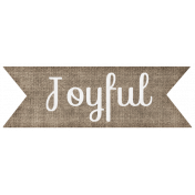 "Simple Pleasures- ""Joyful"" Word Art"