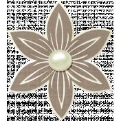 Simple Pleasures- Slate Brown Flower